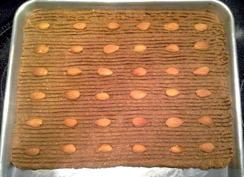 Speculaas ready for the oven.
