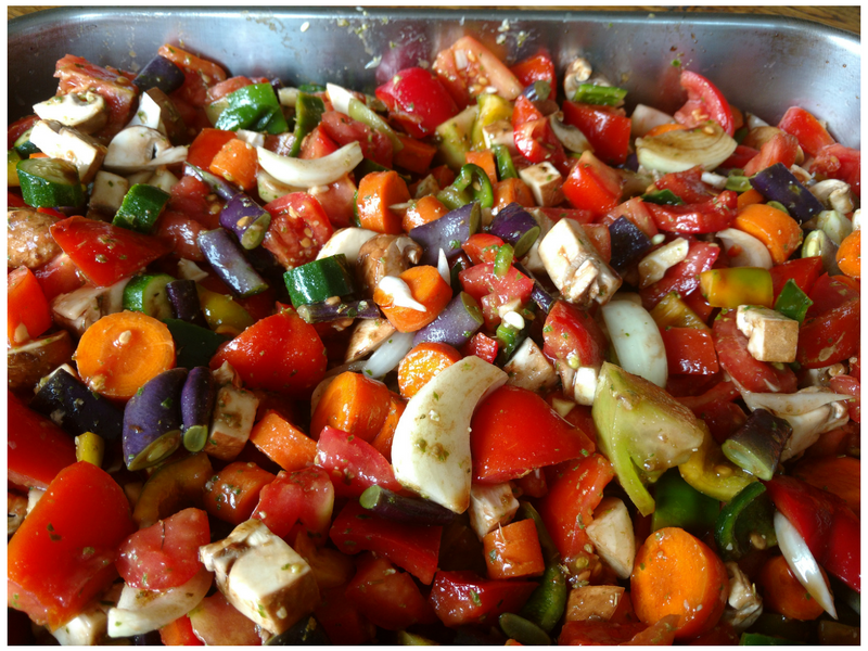 Harvest tomato veggies